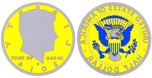 Treatment for the 2014-S Enhanced Uncirculated 50th Anniversary Kennedy Half-Dollar