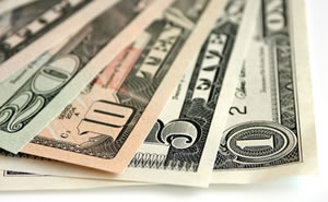 US Money - $1, $5, $10 and $20