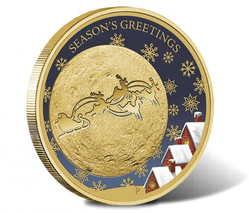 $1 Coin from Christmas 2014 Stamp and Coin Cover