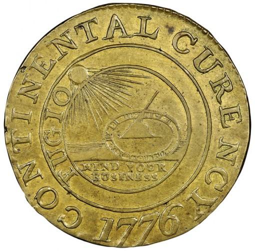 1776 Continental Dollar NGC MS62