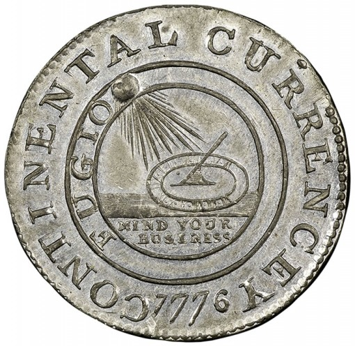 1776 Continental Dollar NGC MS63