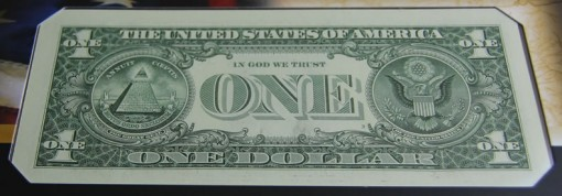 2013 $1 Federal Reserve Note - Back