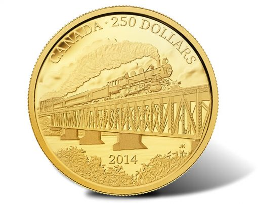 2014 $250 Grand Trunk Pacific Railway 2 oz. Pure Gold Coin