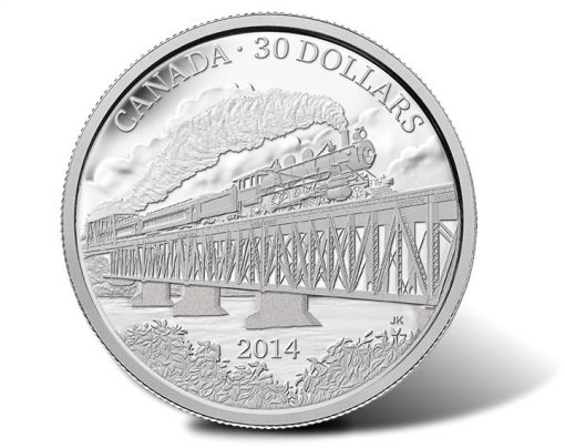 2014 $30 Grand Trunk Pacific Railway 2 oz. Fine Silver Coin