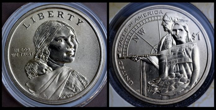 2014-D Enhanced Uncirculated Native American $1 Coin