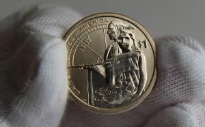 2014-D Enhanced Uncirculated Native American $1 Coin - Reverse
