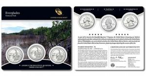3-Coin Set of 2014 Everglades National Park Quarters