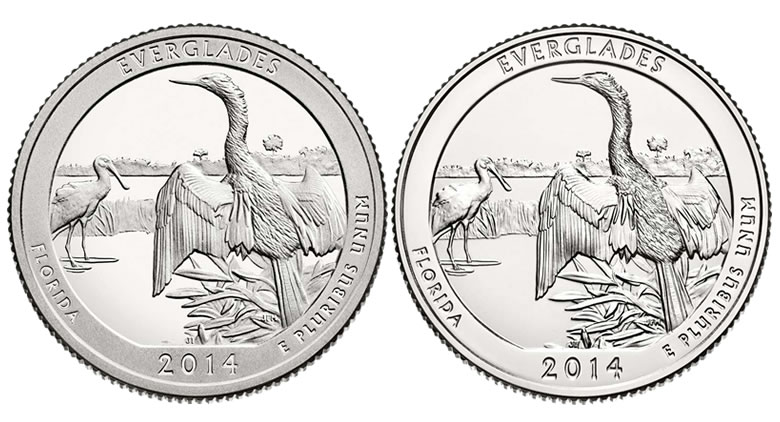 3-Coin Set of 2014 Everglades National Park Quarters | Coin News