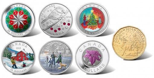 2014 Royal Canadian Mint Holiday Coins