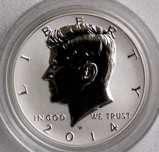 2014-W Reverse Proof Kennedy Half-Dollar from Silver Coin Collection