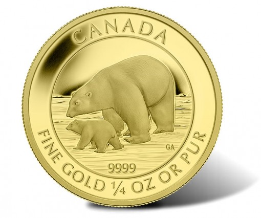 2015 $10 Polar Bear and Cub Gold Coin