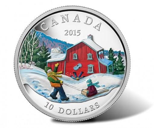 Canada 2015 $10 Winter Scene Silver Coin