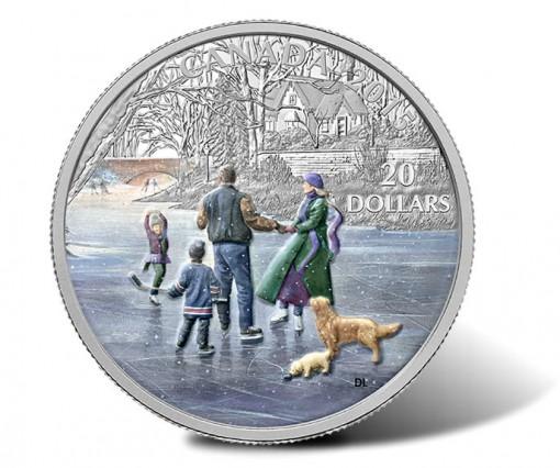 Canada 2015 $20 Ice Dancer Silver Coin