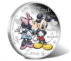 Mickey & Minnie Mouse Adorn Love-Themed Disney Coin