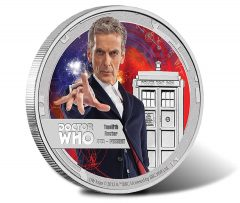 2015 Collectible Silver Coin Depicts Twelfth Doctor Who