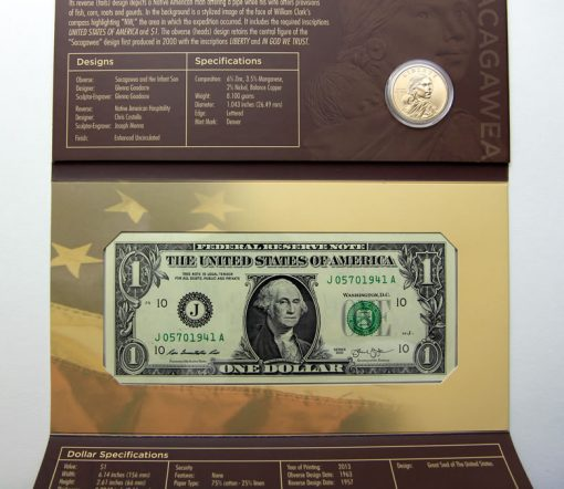 Opened 2014 American $1 Coin and Currency Set