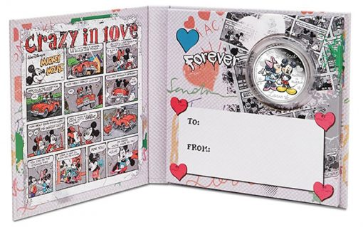 Packing for Mickey and Minnie Mouse Love-Themed Disney Coin