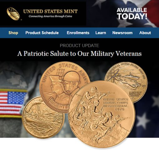 US Mint Medals Promotion