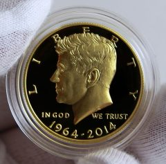 1964-2014 Proof 50th Anniversary Kennedy 50c Gold Coin