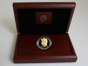1964-2014 Proof 50th Anniversary Kennedy Half-Dollar Gold Coin and case