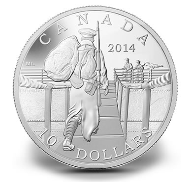 2014 $10 The Mobilisation of our Nation Silver Coin
