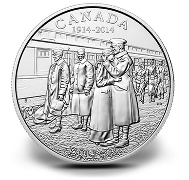 2014 100th Anniversary of the Declaration of the First World War Brilliant Silver Dollar