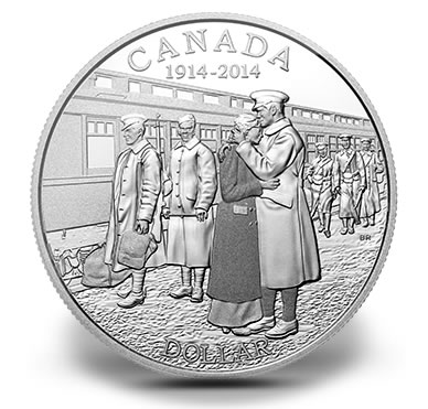 2014 100th Anniversary of the Declaration of the First World War Proof Silver Dollar
