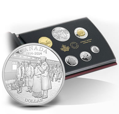 2014 100th Anniversary of the Declaration of the First World War Silver Dollar Proof Set