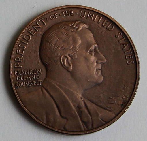 2014 Franklin D. Roosevelt Presidential Bronze Medal - Obverse