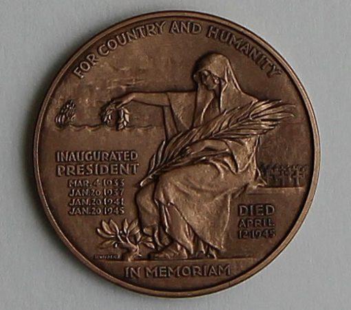 2014 Franklin D. Roosevelt Presidential Bronze Medal - Reverse