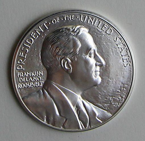 2014 Franklin D. Roosevelt Presidential Silver Medal - Obverse
