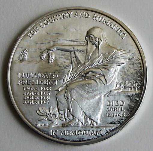 2014 Franklin D. Roosevelt Presidential Silver Medal - Reverse