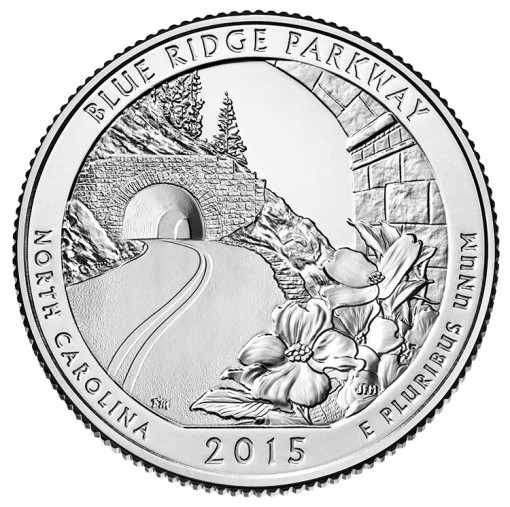 2015 Blue Ridge Parkway Quarter for North Carolina