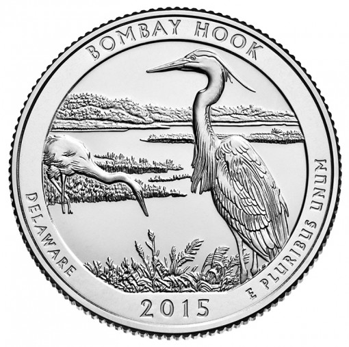 2015 Bombay Hook National Wildlife Refuge Quarter for Delaware