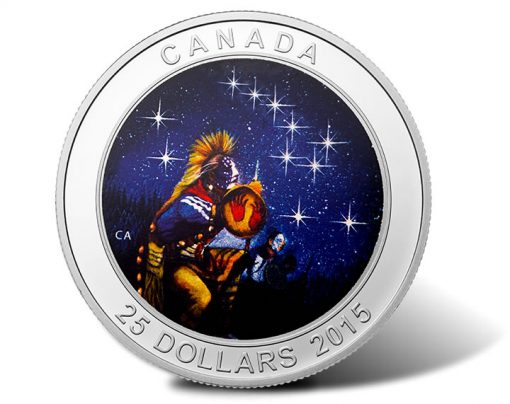 2015 Canada $25 The Quest Star Charts Silver Coin