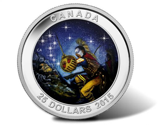 2015 Canada $25 The Wounded Bear Star Charts Silver Coin