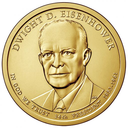2015 Eisenhower Presidential $1 Coin