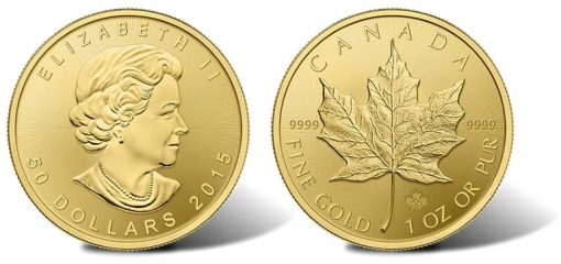 2015 Gold Maple Leaf Bullion Coin
