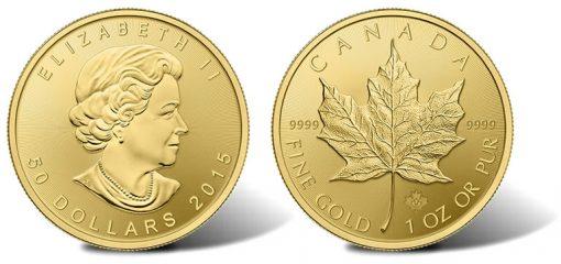 2015 Gold Maple Leaf Bullion Coin