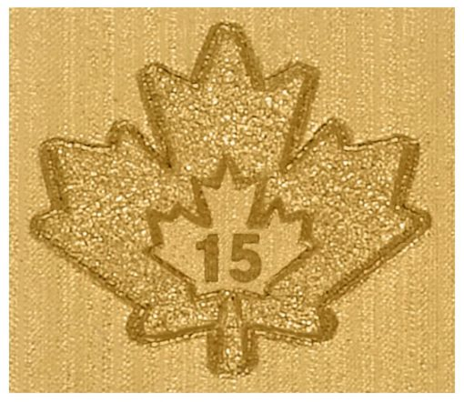 2015 Gold Maple Leaf Bullion Coin Micro-Engraved Laser Mark