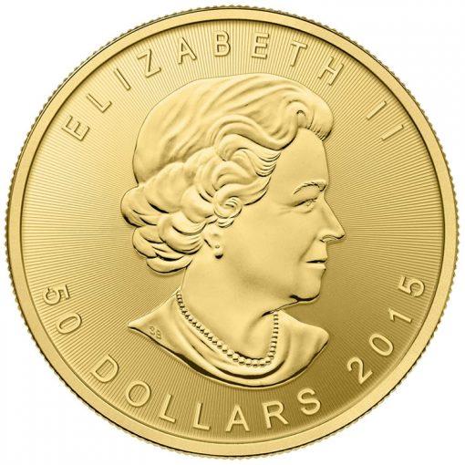 2015 Gold Maple Leaf Bullion Coin - Obverse