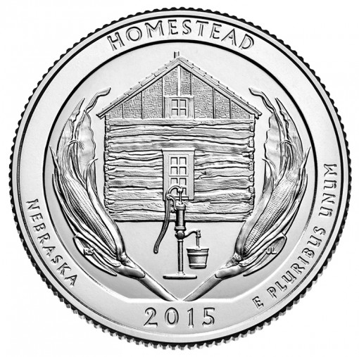 2015 Homestead National Monument of America Quarter for Nebraska