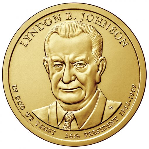 2015 Johnson Presidential $1 Coin