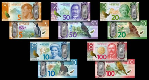 Artistic renditions of New Zealand's newly designed money