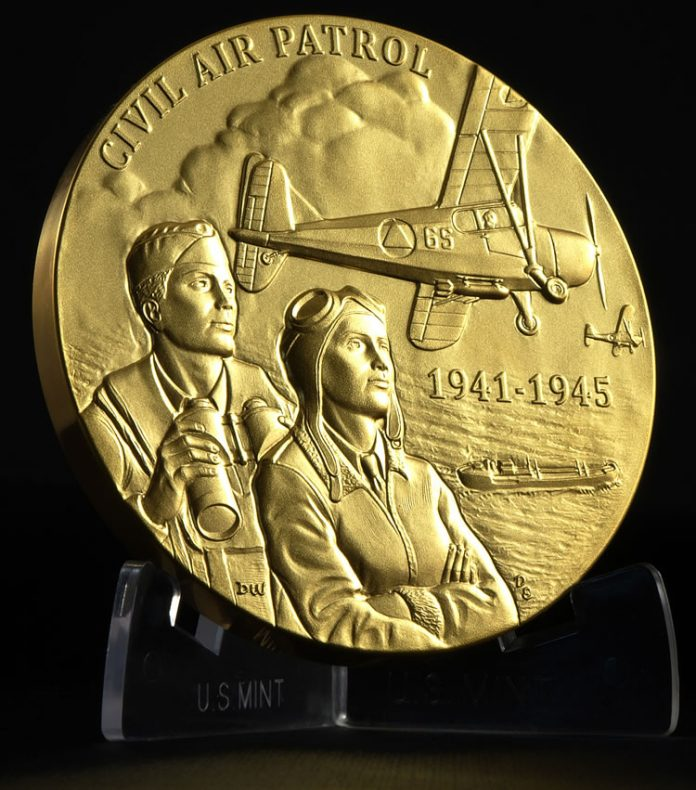 Civil Air Patrol Congressional Gold Medal - Obverse