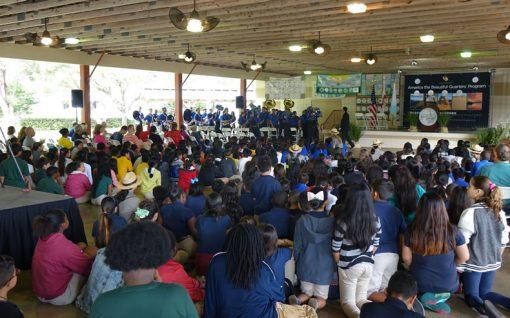 Crowd at Everglades National Park Quarter Ceremony