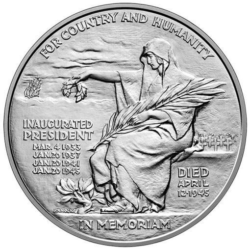Franklin D.Roosevelt Silver Medal - Reverse