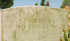 Grave of unknown solider form WWI