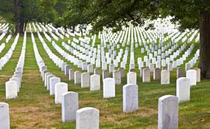 Gravestones on Arlington National Cemetery