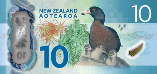 New Zealand $10 Note - Back